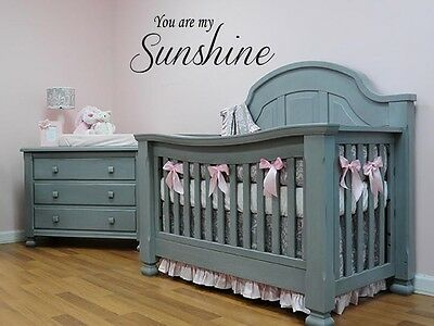You Are My Sunshine Vinyl Wall Decal Words Nursery Kids Baby Quote Lettering