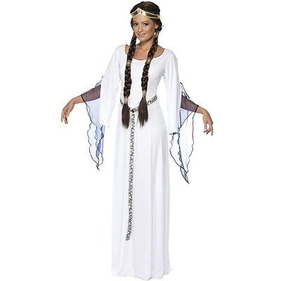 Ladies Medieval Maid Marion Goddess Angel Fancy Dress Costume Size 10 -12 33409