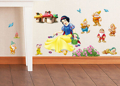 Removable Wall Stickers Small Snow White kids nursery room decor decals mural