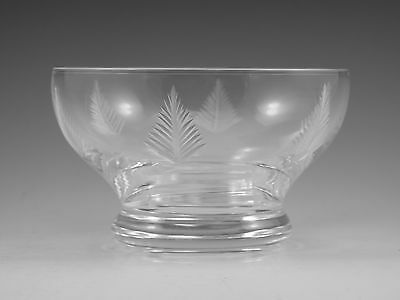 """STUART Crystal - WOODCHESTER Cut - Footed Bowl Glass / Glasses - 2 1/2"""" (2nd)"""