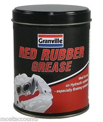 Red Rubber Grease For Brake Systems Rubbers  [0846] 500g Tin