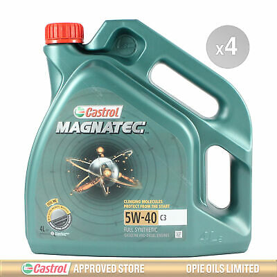 Castrol Magnatec 5W-40 C3 Fully Synthetic Engine Oil 5W40 - 16 LITRES (4x4L)