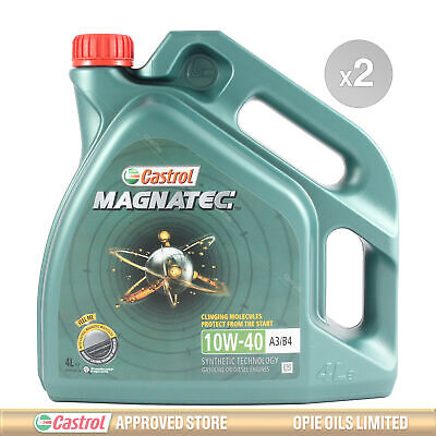 Castrol Magnatec 10W-40 Part-Synthetic Engine Oil ACEA A3/B4 10W40 8 LITRES 2x4L