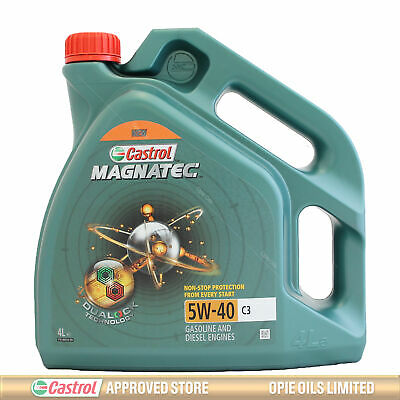 Castrol Magnatec 5W-40 C3 Fully Synthetic Engine Oil 5W40 - 4 LITRES 4L