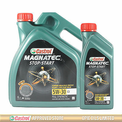 Castrol Magnatec Stop-Start 5W-30 C3 Fully Synthetic Engine Oil 5 LITRES (4L+1L)