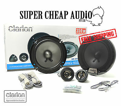 "New Clarion Srg1623S 350W 6.5"" Splits Component Car Audio Stereo Speaker System"