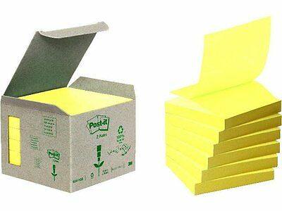 Post it 76 x 76 mm Recycling Z-Notes pastellgelb