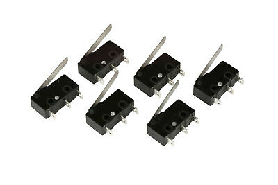 6 pc TEMCo Micro Limit Switch Lever Arm Subminiature SPDT Snap Action LOT
