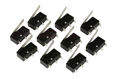 10 pc TEMCo Micro Limit Switch Lever Arm Subminiature SPDT Snap Action LOT