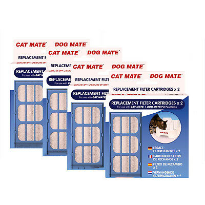 New Pet Mate Cat Water Fountain Filter Cartridge 5 Packs Of 2