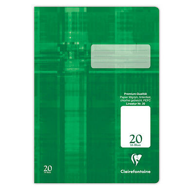 Schulheft Clairefontaine DIN A4 90g Lineatur 20 blanko