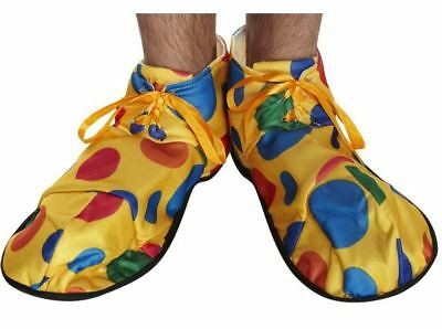 Clown Shoes Covers Circus Yellow Polka Dot Fancy Dress Costume Accessory