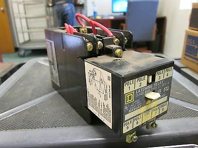 Square D  Latching Relay  8501 LL  8501 L0-40  120V Coil