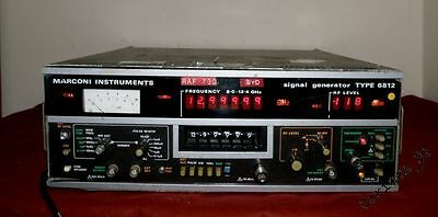 Marconi Instruments Signal Generator 6812 8.0-12.4 GHz TESTED