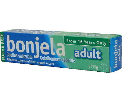 Bonjela Adult Gel 15g - Sugar Free, Effective Pain Relief from Mouth Ulcers