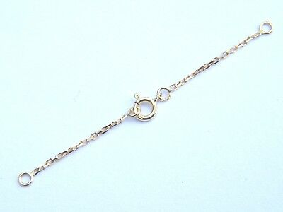 18ct Yellow Gold Safety /Extension Chain w/Bolt Ring-Findings-18K/.750