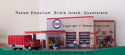 HO Scale Esso Garage Petrol Gas Station Model Railway Building Kit  REEG2