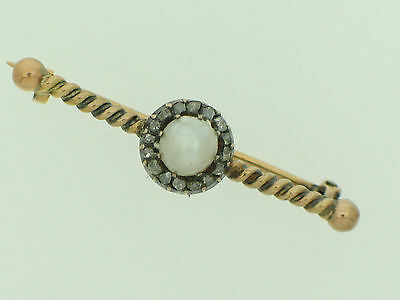 Antike Stabbrosche  Perle und Diamanten    antic brooch with diamonds and pearl