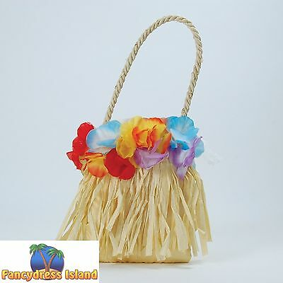 HAWAIIAN HULA BEACH PARTY HANDBAG - womens ladies fancy dress accessory