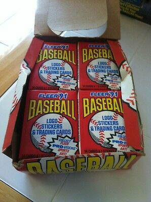 1991 Fleer Baseball Factory Sealed Wax Pack