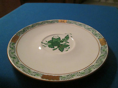 HEREND CHINESE BOUQUET GREEN  SAUCER,