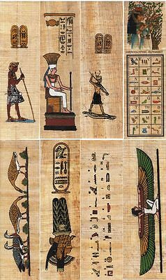 """12 Assorted Mini Papyrus Egyptian Bookmarks 4.5"""" in Length"""