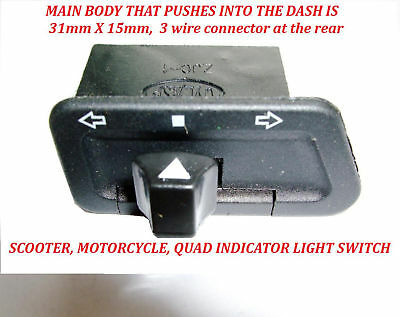 Motorcycle / Scooter / Quad  Indicator Flasher Turn Signal Switch New!