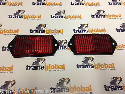 Land Rover Defender Rear Red Oblong Reflectors x2 Pair - OEM - MWC1722
