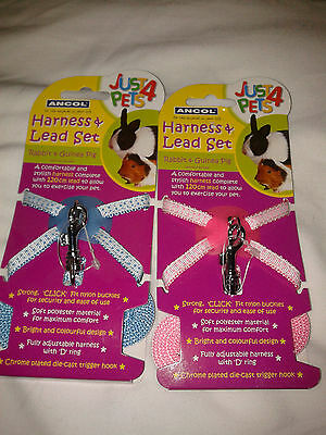 Ancol Just 4 Pets Harness & Lead set for Rabbits & Guinea Pigs