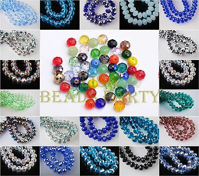 100pcs 3X2mm Faceted Rondelle Crystal Glass Loose Spacer Beads Charms Findings