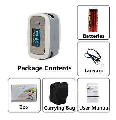 Pulse Oximeter Finger Pulse Blood Oxygen SPO2 Monitor FDA CE OLED CMS50d1 US