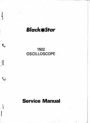 Service manual with schematics for Black star 1502