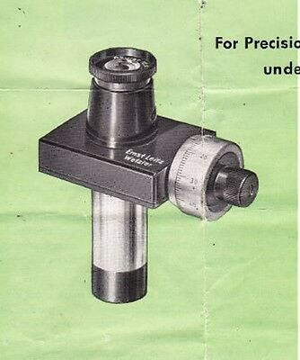 Leitz Screw Micrometer Eyepiece  Microscope Operators Manual on CD