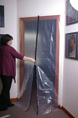 Prodec Zipped Polythene Doorway  Dust Protection