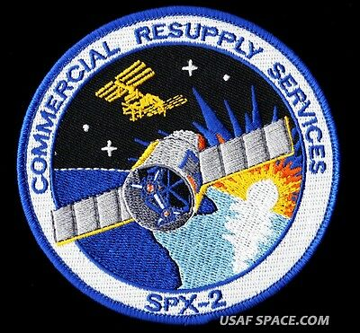 Spacex  Spx-2 Commercial Iss Resupply Services Nasa Space Patch