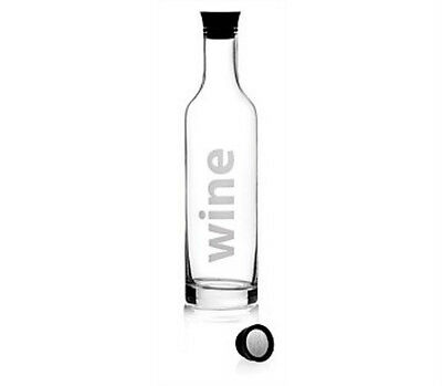 VIVA Wine Decanter with clever silicone mouth pours without dripping.