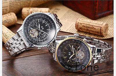Mens Luxury newAutomatic Mechanical Stainless Steel Sport Date Watch