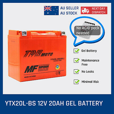 YTX20LBS AGM Battery for TRIUMPH 2300cc ROCKET III Classic Touring Roadster