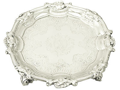 Sterling Silver Waiter - Antique George II