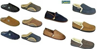 Men's Slippers mules Full Clog Shoes Coolers Navy Tan Black Size 7,8,9,10,11,12