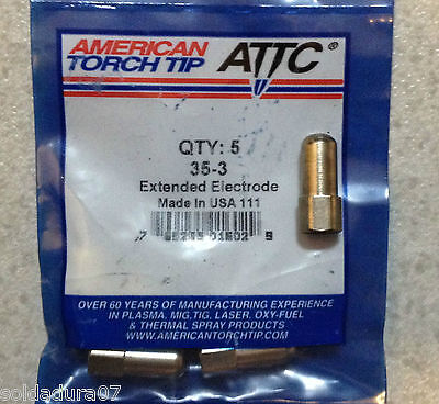 5 Electrodos Plasma Torcha Corte 35-3  American Torch ATTC -  Made in USA