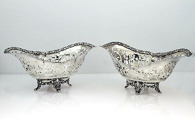 Tiffany & Co Pair of Sweetmeat Pierced Dishes in Sterling Silver.   NO MONO.