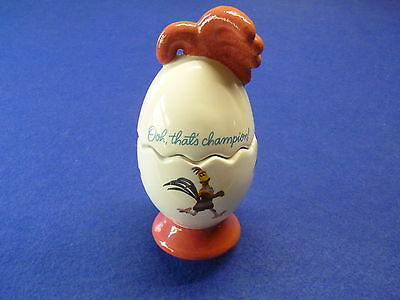 Chicken Run Aardman Rocky Rooster Ceramic Egg
