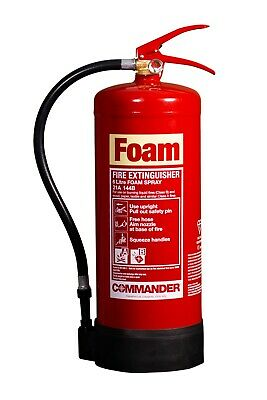 New 6 Litre Foam (Afff) Fire Extinguisher - 6L/6Ltr - Free Shipping, Uk Stock