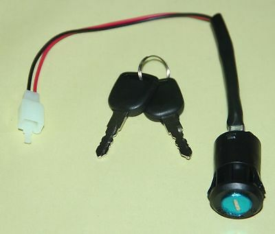Key Ignition Switch Lock ON/OFF Electric Scooters Bicycle Dirt Bike Moped 2 Wire