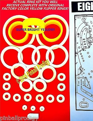 1982 Bally Eight Ball Deluxe Limted Edition Pinball Machine Rubber Ring Kit