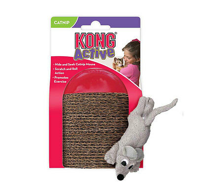 Kong scamper cat kitten catnip infused scratching toy with mouse