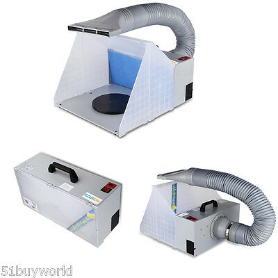 Portable Airbrushing Airbrush Spray Booth Hose Extractor E420 Kit Filter-UK Plug