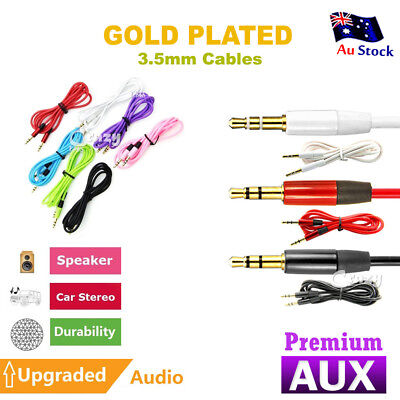 Premium Gold Plated Universal Aux Cable Stereo Audio Extension 3.5mm Input Cord