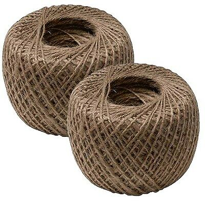 2 x Natural Garden String Jute Twine Ball Rope Roll Plant Ties Line 250M P13